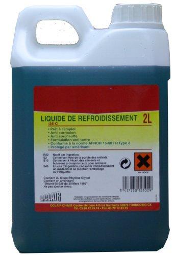 TOPCAR Bidon de 2 litres de Liquide de Refroidissement -25°C