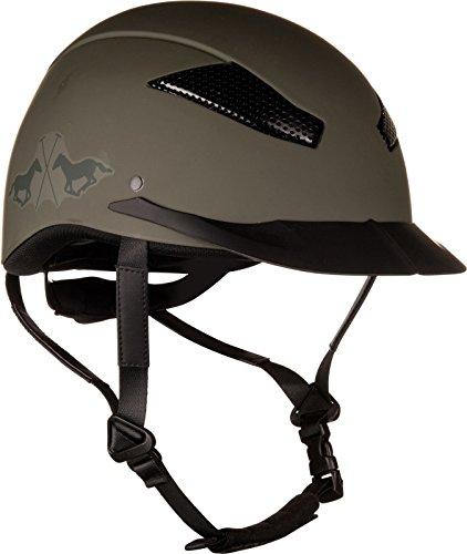 HV Polo Sicherheits-Reithelm Langley mat CE VG1 01 040 2014-12 Coolmax Winter 17 (L, army)