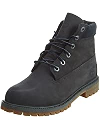 Timberland 6 Inch Classic Boot Youth Dark Grey Nubuck Ankle Boots