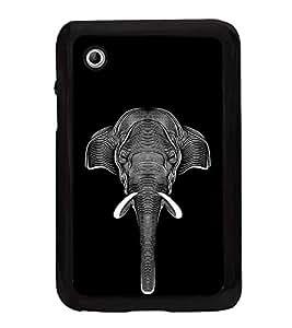 Fuson Designer Back Case Cover for Samsung Galaxy Tab 2 (7.0 Inches) P3100 (Zebra Print Zebra Design Black And White Lines Black Lines White Lines)