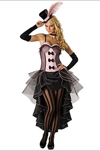 Gorgeous Kostümiert Halloween-Kostüm Broadway Showgirl Rock Schwalbenschwanz weiblichen Magier Kostüm Rollenspiel
