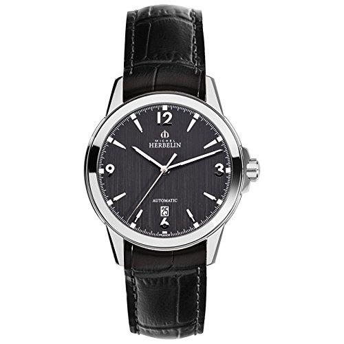 Michel Herbelin ambassade automático para hombre reloj de plata de roségoldfarben/gris 1650/14