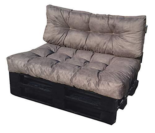 ValoreItalia Cuscino per Bancale Divano Pallet 80X120 Seduta e Schienale in  Microfibra per Bancali (Grigio)