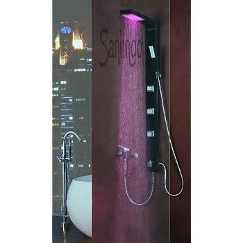 noir aluminium colonne de douche avec led de sanlingo bricolage