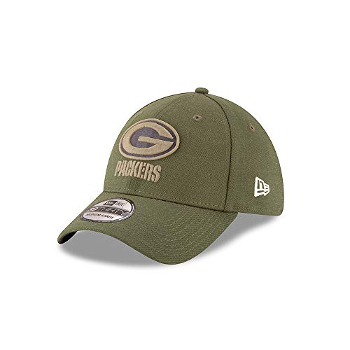 39945e9be1138 A NEW ERA Era Green Bay Packers 39thirty Stretch Cap On Field 2018 Salute  To Service