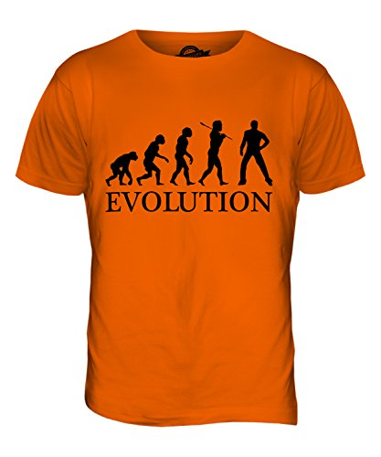 CandyMix Disco Musik Tanz Evolution Des Menschen Herren T Shirt Orange