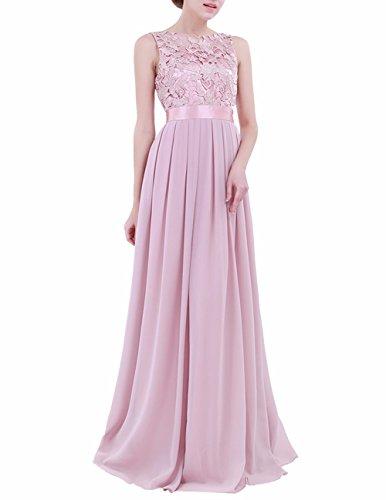 4380bfb55 Freebily Vestido de Noche Boda Ceremonia para Mujer Vestido de Novia Baile  de Graduación para Chica
