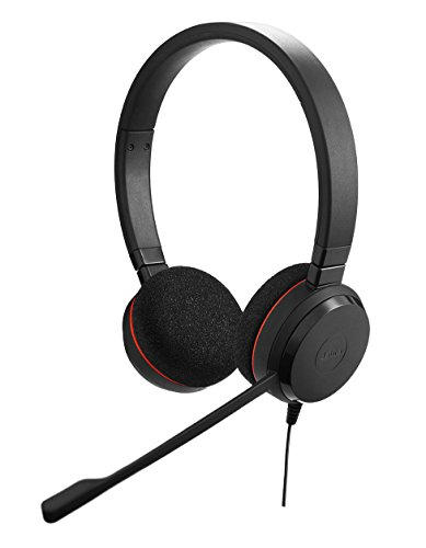 Jabra Evolve 20 Professionelles VoIP-Softphone Stereo Headset (geeignet für PC) Voip Stereo Headset