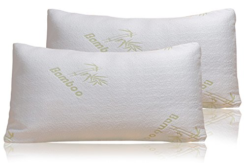 bamboo-pillow-firm-shredded-memory-foam-set-of-2-stay-cool-removable-cover-with-zipper-hotel-quality