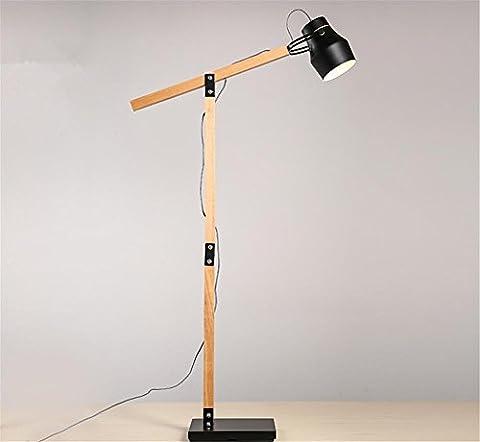 H&M LED Reading Floor Lamp - Dimmable Full Spectrum LED Light - Fully Adjustable Neck -5 Watts - Iron Natural