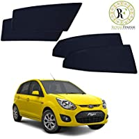 Royal Finish Car Window Sunshades for Ford Figo Old-2008 to 2014 Z Black Half Fix Type; Set of 4 Piece