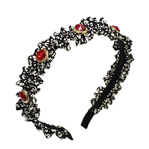 Damen Haarband mit Leopardenmuster, elegant, Retro-Stil One Size schwarz