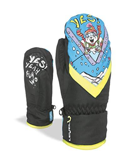 Level Kinder Kid Mitt Gore-Tex Handschuhe, Black/Yellow, V (9-10) Mitt Kids Handschuhe
