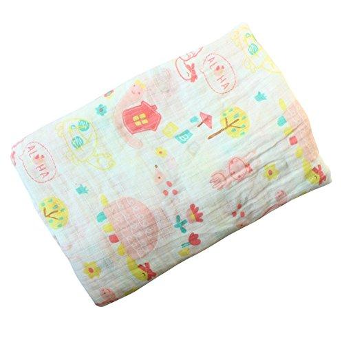 Baby Swaddle Blanket, Baywell Baumwolle Baby Gaze Wrap Decke Pucktücher Niedlich Kostüm Fotoshooting (A5(Schildkröte)) (Niedliche Baby Schildkröte Kostüm)