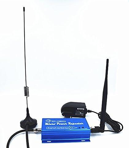 Fashmond- Mini Répéteur Répétiteur Amplificateur Ampli Booster de Signal 2G GSM 900MHz 900 MHz pour le Portable téléphone mobile 60db sur 100 mètre carré en Kit avec antenne complet (Merci de confirmer la fréquence sur http://www.cartoradio.fr/cartoradio/web/#, SVP!)