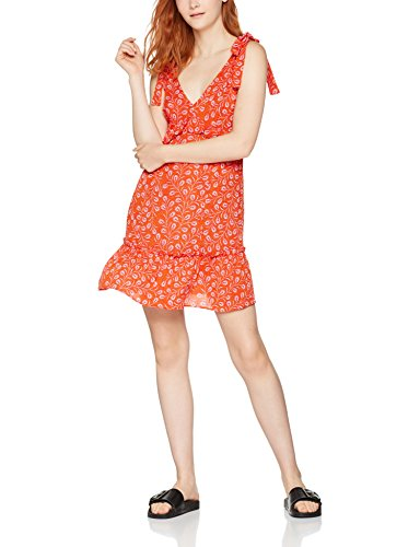 find-tie-shoulder-sun-robe-femme-multicolore-orange-mix-12-taille-fabricant-large
