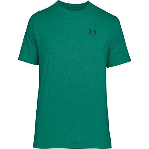 Under Armour Herren Fitness Cc Left Chest Lockup Kurzarm T-Shirt, Grün Course Green/Arena Green/Tourmaline Teal, XL