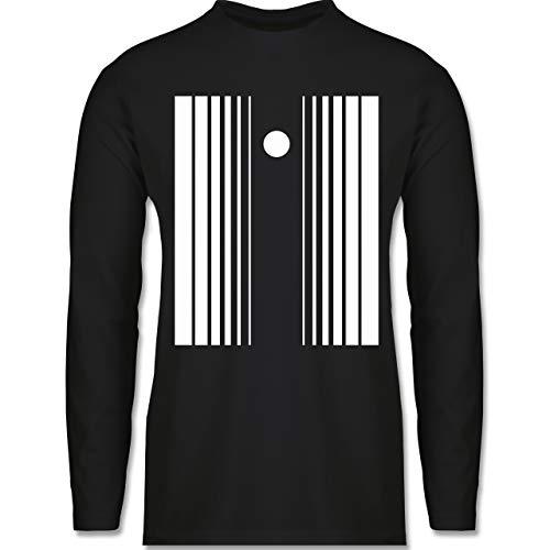 Shirtracer Karneval & Fasching - Doppler-Effekt - 3XL - Schwarz - BCTU005 - Herren Langarmshirt (Herren Sheldon Doppler Effekt Kostüm)
