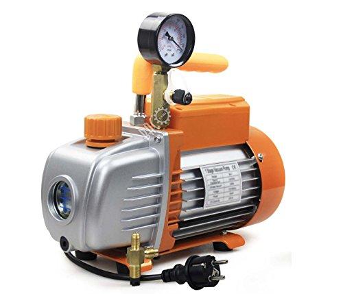 BACOENG 3CFM Einstufige Vakuumpumpe 85 L/Min Unterdruckpumpe mit Manometer HVAC -