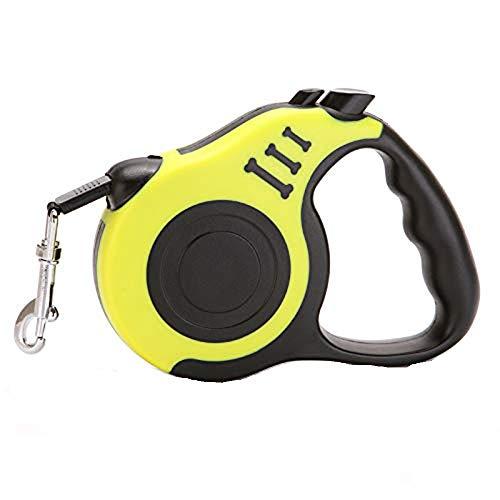 WRYCN Automatisches Einziehbares Zugseil Für Haustiere, One Button Control-haustierleine Pet Supplies, 3 Meter,Yellow (Candy Traktor)