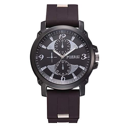 Herren Business Watch Kunststoffband Sport Fashion Watch Simulierte Quarzuhr Kinlene Herren Uhren