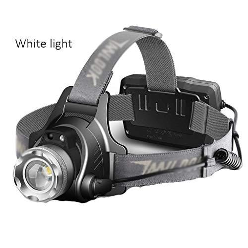 Lampade da testa fari luci da campeggio a led luci sportive all'aperto luci da pesca notturna luci da arrampicata luci da miniera (color : yellow light)
