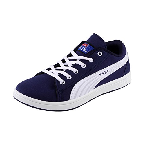 Lancer Men TS-164 NBL-WHT-40 Canvas Sports Sneakers Shoes 6 UK