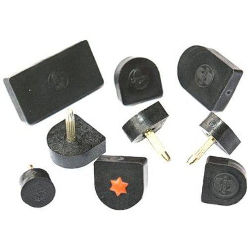 """1 Paar Absätze 12 x 15mm """"12L"""" (U-Form) schwarz Kunststoff Ersatz Absatz, Stiftflecken,""""S"""""""