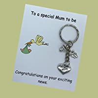 To a special Mum to Be Pregnancy Expecting Handmade charm keyring baby shower gift dad