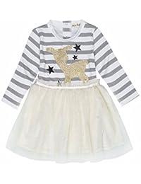 iiniim Baby Mädchen Kleid Prinzessin Kleid Langarm Festlich Pailletten Kleid Tüllkleid Partykleid Festzug
