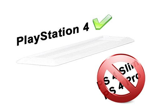 Gaminger Playstation 4 Standfuß Vertikal Stand - Zum sicheren vertikalen Aufstellen der PS4 Konsole - Weiß - Nicht PASSEND FÜR PS4 Slim/Pro, dafür Bitte anderes Modell auswählen