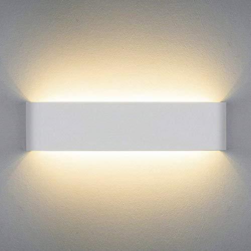 Wandlampe LED Innen Wandleuchte Up Down 14W Weiß Wandbeleuchtung Warmweiß AC 230V für Schlafzimmer Wohnzimmer Bad Flur Treppen 40CM