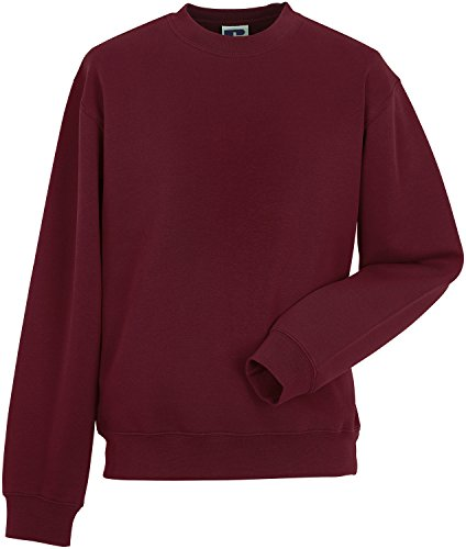 Russell Collection -  Felpa  - Basic - Maniche lunghe  - Uomo Bordeaux