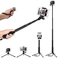Mpow Bluetooth Selfie Stick mit Stativ, Handy Stativ mit Bluetooth- Fernauslöser für iPhone7 7Plus 6S 6S Plus Samsung HTC Huawei und Action Kamera Gopro usw.