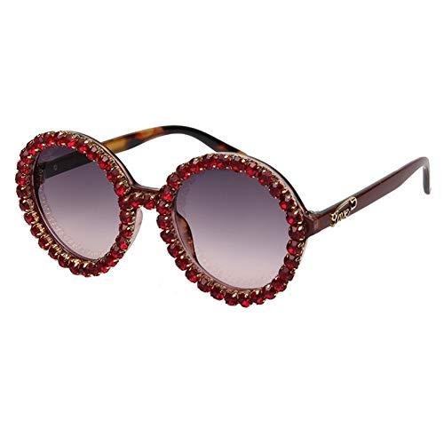 Taiyangcheng Polarisierte Sonnenbrille Vintage Runde Sonnenbrille Frauen Strass Sonnenbrille Männer Leopard Liebesbrief Mode Uv400,A2
