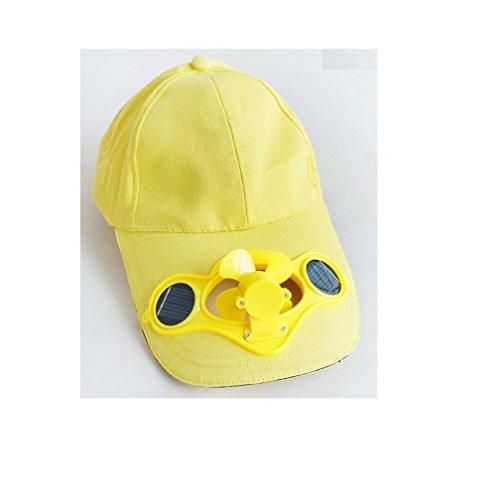 Preisvergleich Produktbild ma-on solarbetriebene Luft Lüfter gekühlt Baseball-Mütze w / Solar Panel auf der Cap (gelb)
