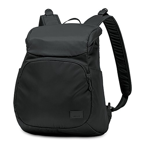 PacSafe Citysafe CS300 anti-theft compact backpack Rucksack, 35 cm, 14,9 liters, Schwarz (Black 100) (Kabel-damen-pullover)