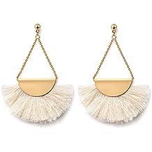 BELLOFOX Fabric Thread and Alloy Dangle & Drop Earrings For Women
