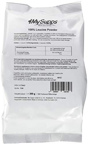 My Supps 100{53105c6f14e5e4955c9ecaa2835aded154afd69308bfcafd0dcf9015eace0a66} Leucine Powder, 300 g