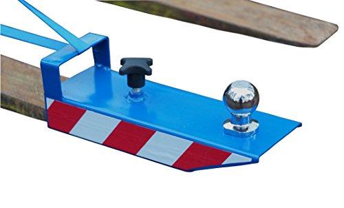 IB_KL Rangierhilfe für Gabelstapler Anhänger Stapler Kugelkopf Radlader Wohnwagen Gabeln maximal 110x50 Farbe Blau