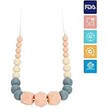 KYG Collar de Lactancia para Bebé Collar Mordedor de Silicona
