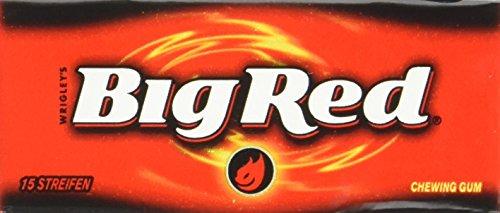 Big Red 15 Streifen, 8er Pack (8 x 15 Streifen) (Kaugummi Zimt)