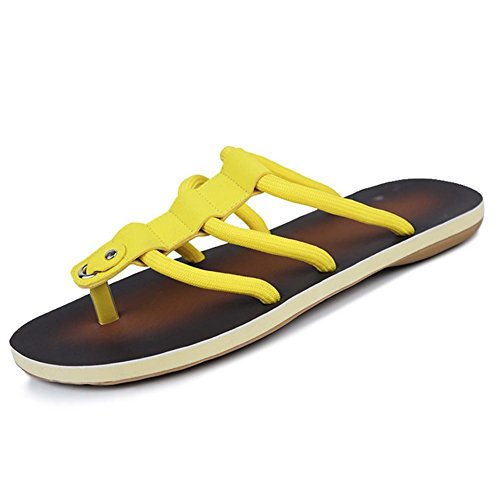 SHANGXIAN Herren Hausschuhe & Flip-Flops Komfort Schuhe Casual flachen Ferse schwarz gelb Walking Yellow