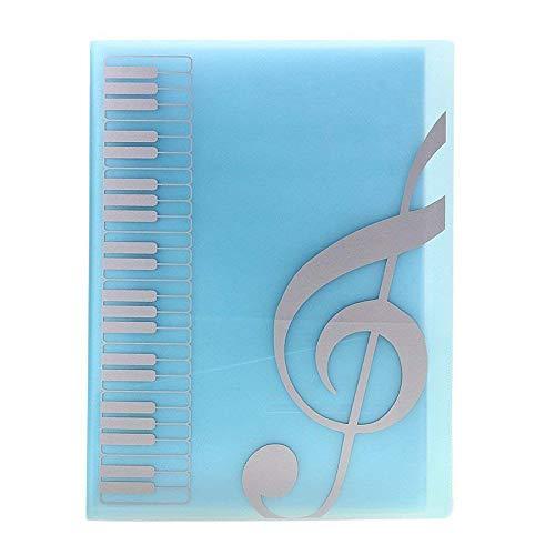 TJW Notenmappe, Notenblatt-Ordner, für A4-Größe, 40 Packtaschen blau