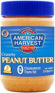 American Harvest Crunchy Peanut Butter, 510 gm
