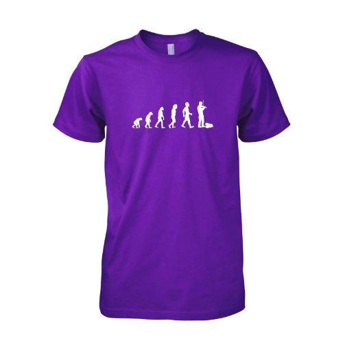 Geige/Violine Evolution - Herren T-Shirt, Größe XXL, violett