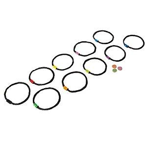 Buiten speel Hop Scotch Juego con 10Anillos y 3Throwing Chips (Multicolor)