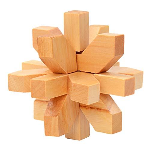 CRRE Puzzle Holzspielzeug Kong Ming Lu Ban Sperre Entsperren Sie die Ringserie Intellektuelle BausteineU (G)