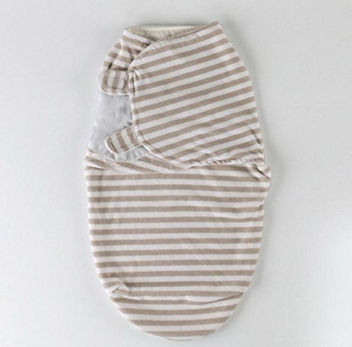 Happy Cherry Neugeborene Sommer Swaddle Säugling Unisex Schlafsack Ganzkörper Baumwolle Süß Musterdruck (Streifen) Infant Swaddle Baby Decke Für Schlaf 30 * 56cm Geeigenet für 0-3 Monate
