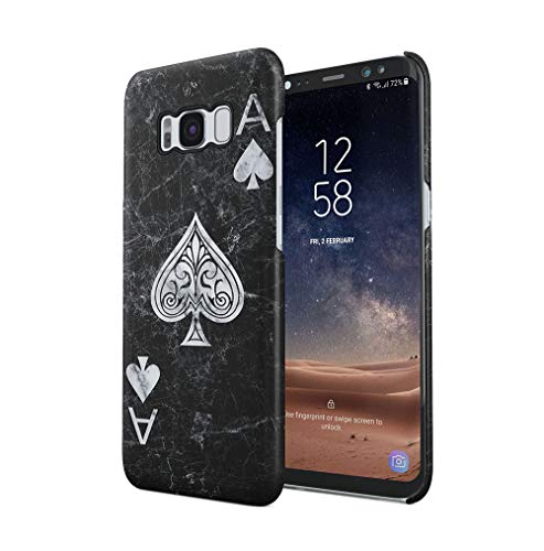 Maceste Ace of Spades Black Marble Kompatibel mit Samsung Galaxy S8 SnapOn Hard Plastic Phone Protective Fall Handyhülle Case Cover